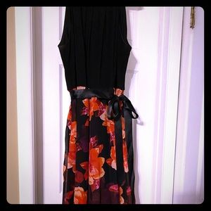Black and floral maxi dress. Size 12
